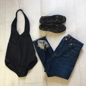 Iconic backless bodysuit